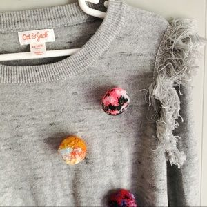 Cat & Jack Shirts & Tops - Cat & Jack • Pom Pom Pullover Sweater XS